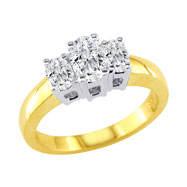 14K Yellow Gold .75ct Diamond Oval Ring G-H SI2