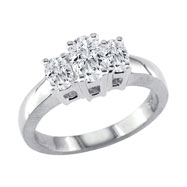 14K White Gold .75ct Diamond Oval Ring G-H SI2