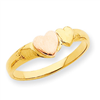14k Two-Tone Heart Ring