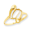 14k Polished Fancy Swirl Ring