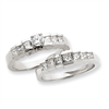 14k White Gold AAA Diamond engagement ring