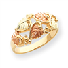 10k Tri-color Black Hills Gold Fancy Leaf Ring