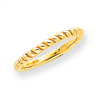 14k Polished Twisted Band ring
