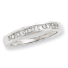 14k White Gold A Quality Complete Diamond Wedding Band ring