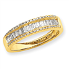14K Yellow Gold Diamond Wedding Band ring