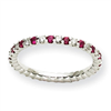 14k White Gold Dia / Ruby ring