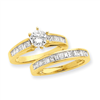 14k Peg Set A Quality Semi-Mount Diamond Engagement Ring