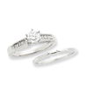 14k White Gold Peg Set A Quality Semi-Mount Engagement Ring
