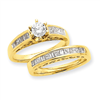14K Diamond Engagement Ring Semi-Mount ring
