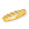 14k Diamond-cut Rope Ring