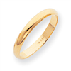 14k 3mm Half-Round Featherweight Band ring
