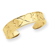 14k Heart Pattern Toe Ring