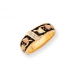 10k Tri-color Black Hills Gold Ladies Antiqued Wedding Band
