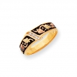 10k Tri-color Black Hills Gold Mens Antiqued Wedding Band