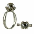 14KW 8-9MM TAHITIAN PEARL &  DIA RING
