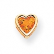 14k 6mm Heart Citrine bezel pendant