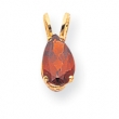 14k 9x6mm Pear Garnet pendant