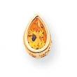 14k 8x5mm Pear Citrine bezel pendant