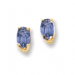 14k 5x3mm Oval Tanzanite earring