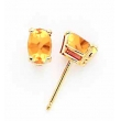 14k 6x4mm Oval Citrine earring