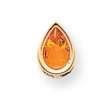 14k 9x6mm Pear Citrine bezel pendant