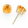 14k 7mm Citrine earring