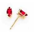 14k 6x3mm Marquise Ruby earring