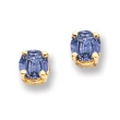 14k 4mm Tanzanite earring
