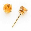 14k 5mm Citrine earring