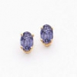 14k 6x4mm Oval Tanzanite earring