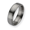 Titanium Brushed Top Bevel Wedding Band ring
