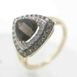 Smoky Topaz Diamond Ring