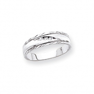 14k White Gold AA Quality Trio Mens Wedding Band ring