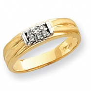 10k Men's Diamond Wedding Band ring