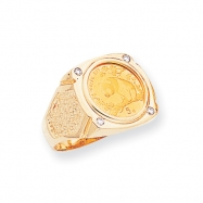14k Diamond Panda Coin Ring