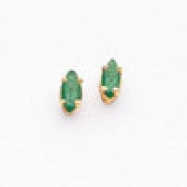 14k 5x2.5mm Marquise Emerald earring