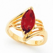 14k 12x6mm Marquise Garnet ring