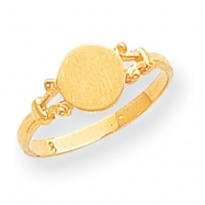 14k Childs Fancy Signet Ring