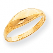 14k Childs Polished Dome Ring