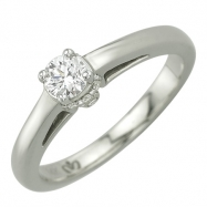 Round Diamond Bridal Semi-mount - White Gold
