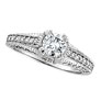 18K White Gold 1.2ct Diamond Engagement Ring Antique Style SI2 H-I