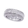 14K White Gold Eternity 4.92ct Diamond Band Ring SI1-SI2 G-H