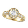 18K Yellow Gold .80ct Diamond Bezel Ring SI1-SI2 G-H