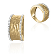14K Yellow Gold Diamonds Ring