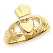 14K Gold Polished Claddaugh Ring