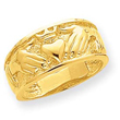 14K Gold Polished Men