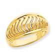 14K Gold High Polished Swirl Dome Ring
