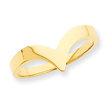 14K Gold Polished Fancy Ring