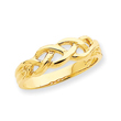 14K Gold Free Form Knot Ring