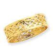 14K Gold Polished Celtic Knot Band Ring